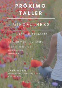 cartel taller mindfulness