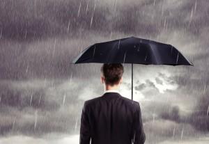 paraguas lluvia gris